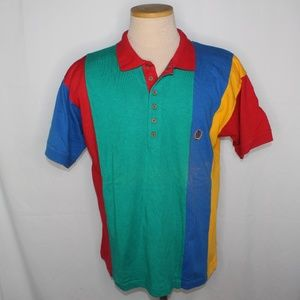 Vtg 90s Tommy Hilfiger Colorblock Polo Shirt